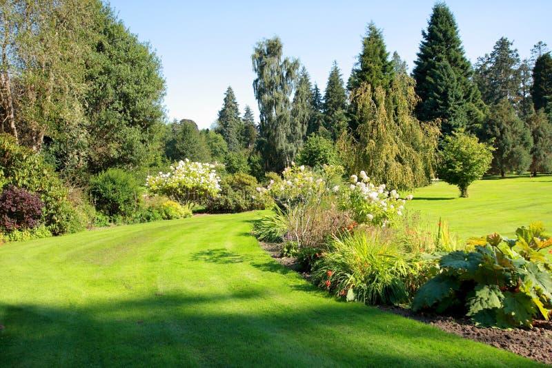 Beau jardin en parc photographie stock
