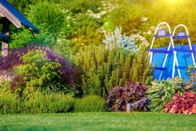 beau jardin Japon kobe d'arrière-cour image libre de droits