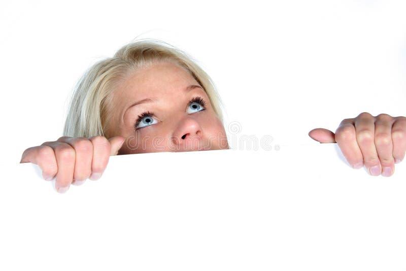 Beau jeter un coup d 39 oeil de fille image stock image du main haut 13151129 - Jeter un coup d oeil anglais ...