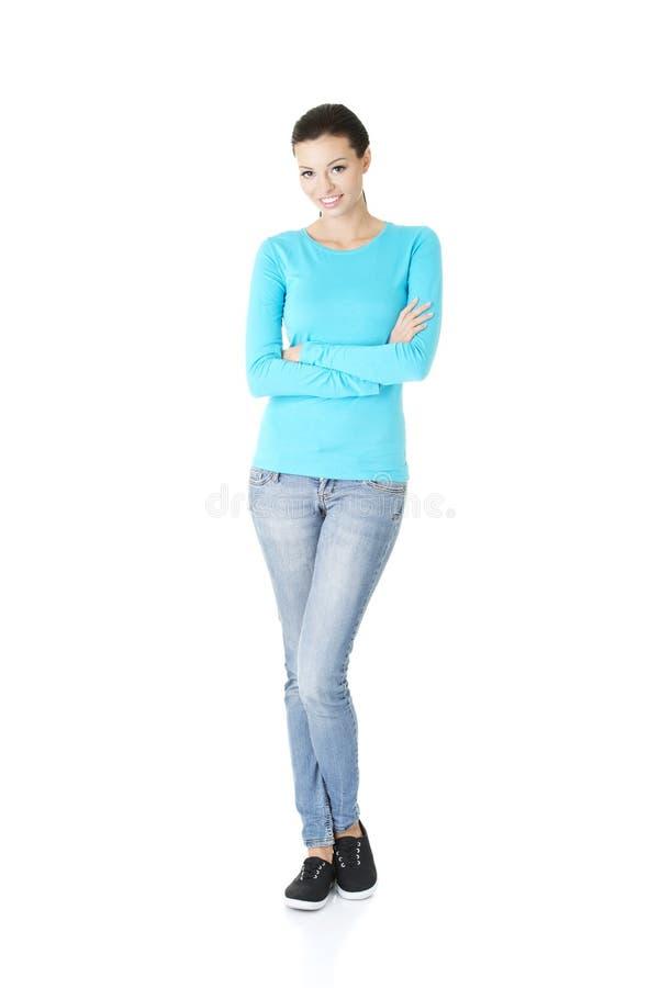 Beau jeune femme (étudiante) image stock