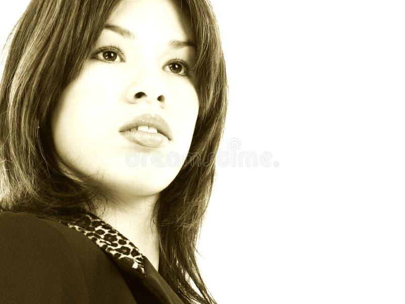 Beau jeune femme hispanique fier d'affaires photo libre de droits