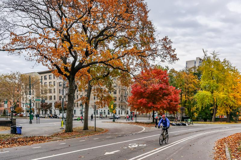 Beau jour d'automne pour une promenade dans le Central Park New York City Manhattan images stock