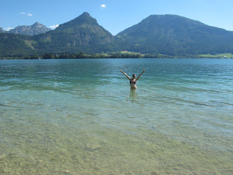 Beau lac image libre de droits