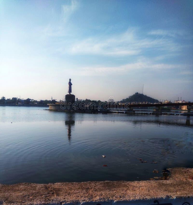 Beau lac de Ranchi, connu sous le nom de lac ranchi ou de Bada Talab photo libre de droits