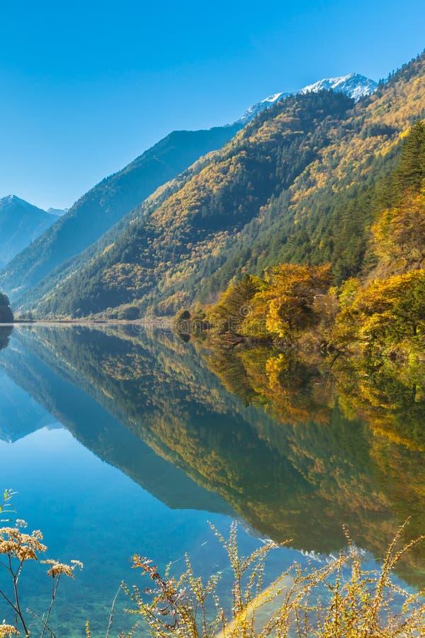 Beau lac en parc national de Jiuzhaigou photo libre de droits