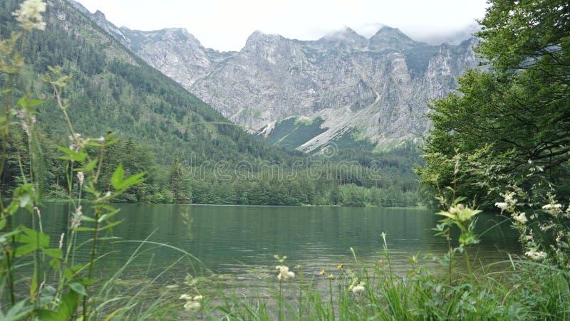 Beau lac Hiterer Langbathsee en Autriche photos libres de droits