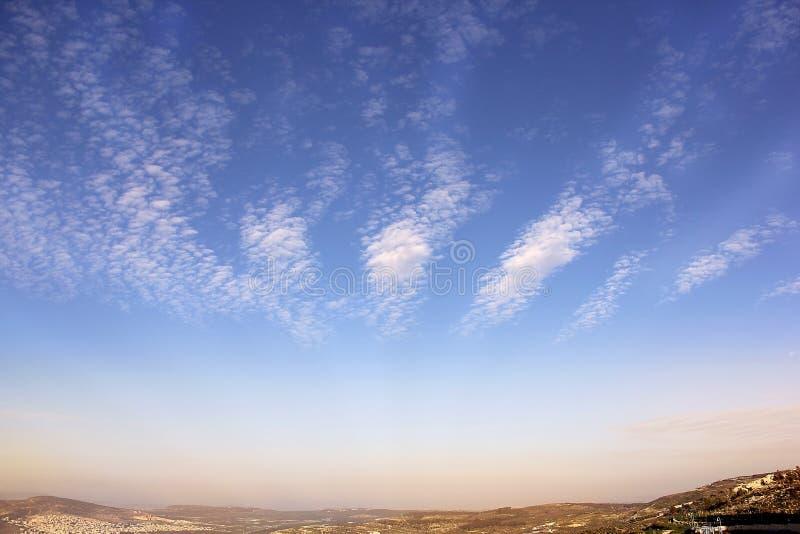 Beau lever de soleil au-dessus de Cana de la Galilée, Israël photos libres de droits