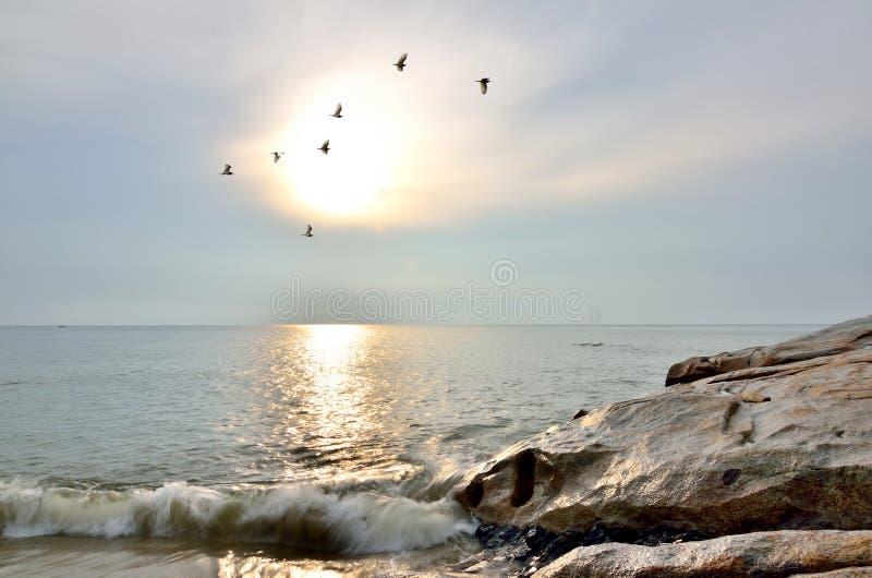 Beau lever de soleil déprimé image libre de droits