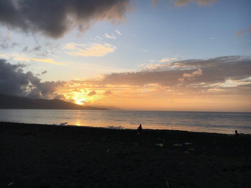 Beau lever de soleil le matin photographie stock