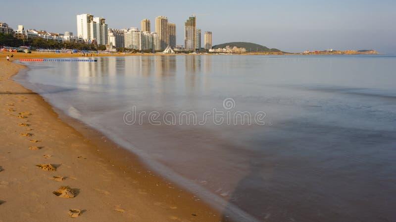 Beau littoral de Weihai images stock