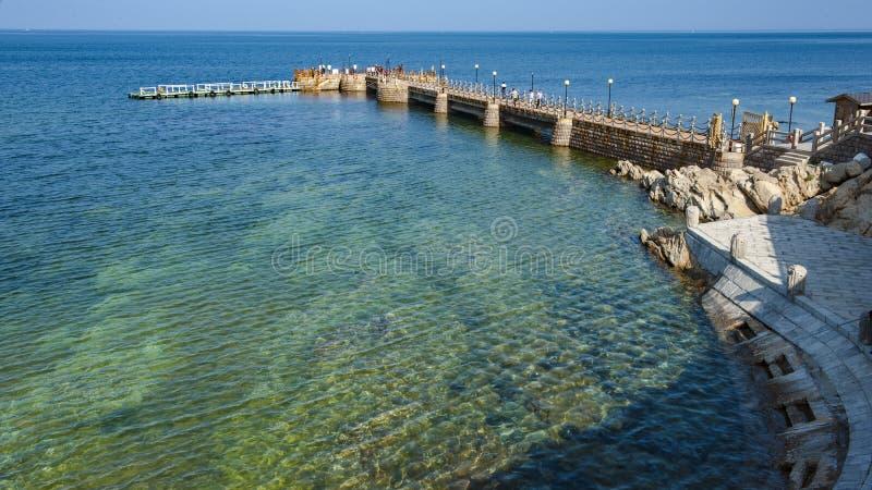 Beau littoral de Weihai photos libres de droits