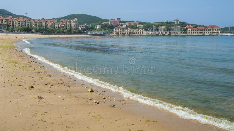 Beau littoral de Weihai photos stock