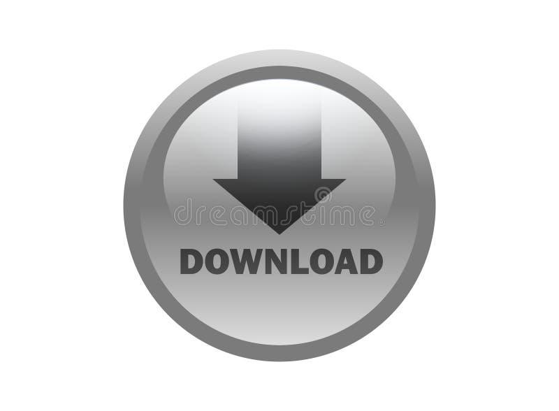 Beau logo d'icône de téléchargement d'isolement sur le fond blanc illustration libre de droits