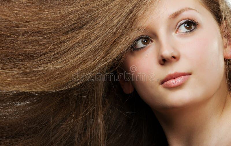 Beau long cheveu sain photos libres de droits