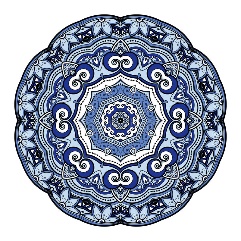 Download Beau Mandala Coloré Par Deco De Vecteur Illustration de Vecteur - Illustration du amulette, griffonnage: 56480708