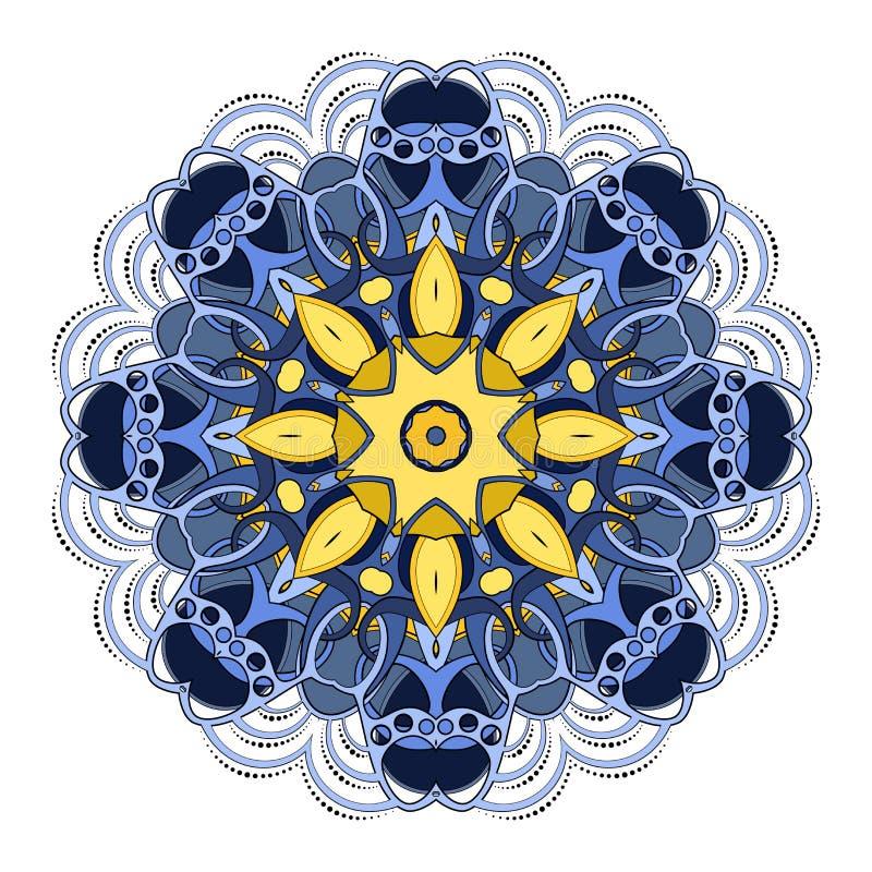Beau mandala coloré par Deco de vecteur illustration stock