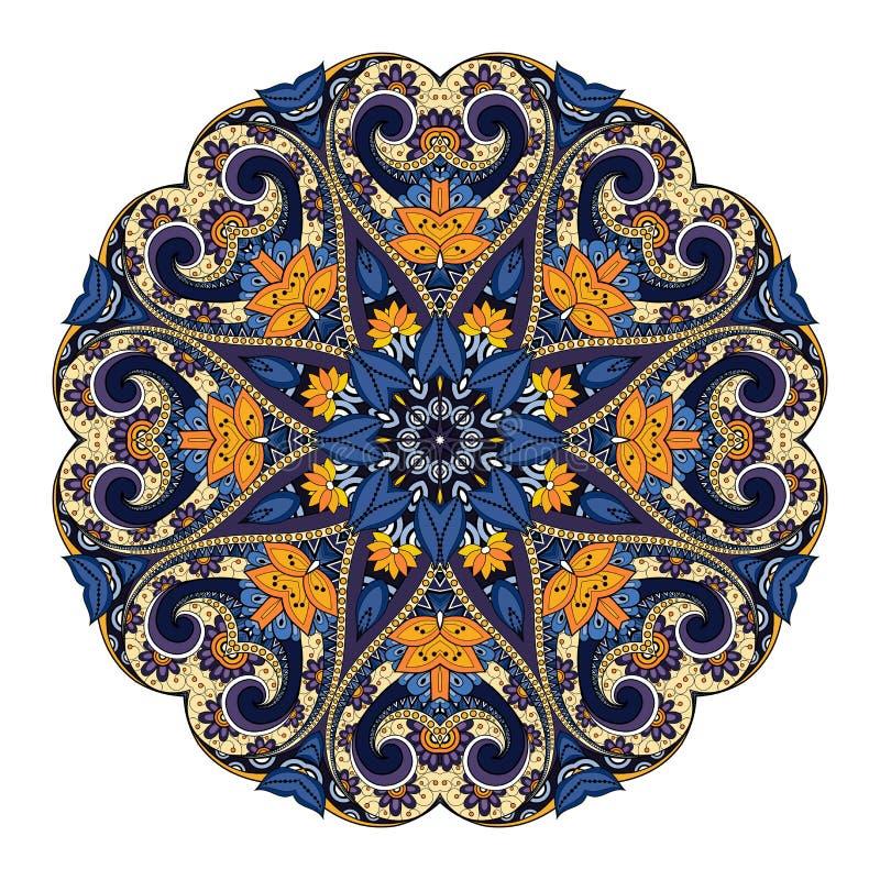 Beau mandala coloré par Deco de vecteur illustration de vecteur
