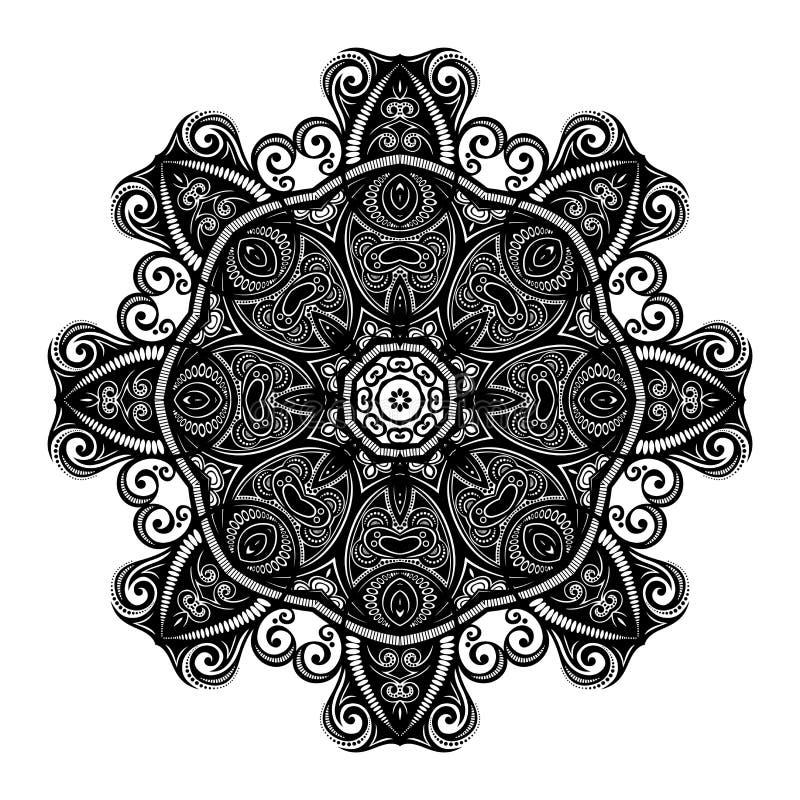 Download Beau Mandala De Noir De Deco De Vecteur Illustration de Vecteur - Illustration du floral, main: 56480741