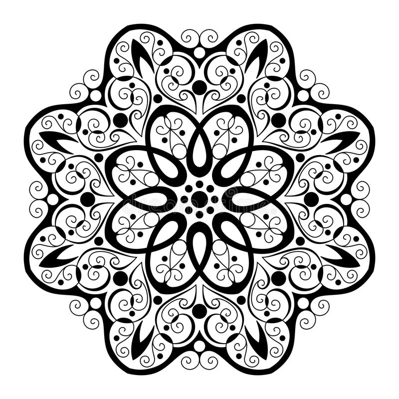 Download Beau Mandala De Noir De Deco De Vecteur Illustration de Vecteur - Illustration du floral, logo: 56480795