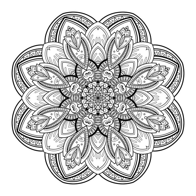 Download Beau Mandala De Noir De Deco De Vecteur Illustration de Vecteur - Illustration du lacet, ligne: 56480805