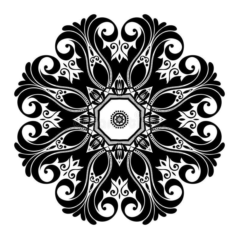 Download Beau Mandala De Noir De Deco De Vecteur Illustration de Vecteur - Illustration du conception, deco: 56480816