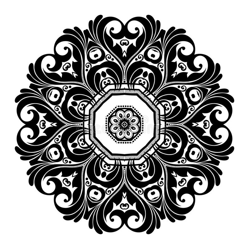 Download Beau Mandala De Noir De Deco De Vecteur Illustration de Vecteur - Illustration du vacances, bohemian: 56481094