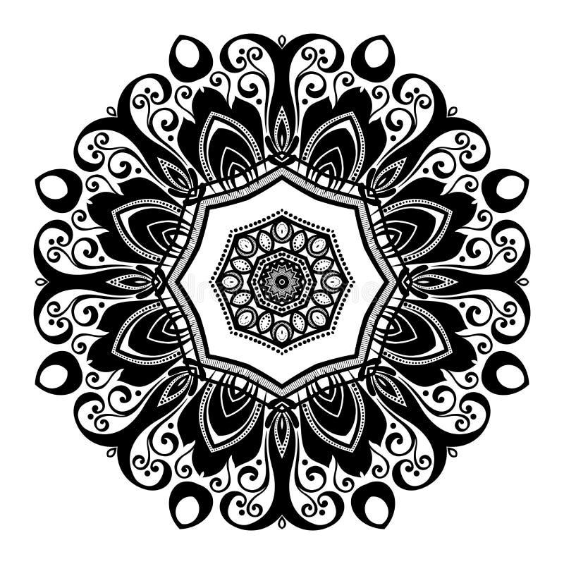 Download Beau Mandala De Noir De Deco De Vecteur Illustration de Vecteur - Illustration du ligne, célébration: 56481337