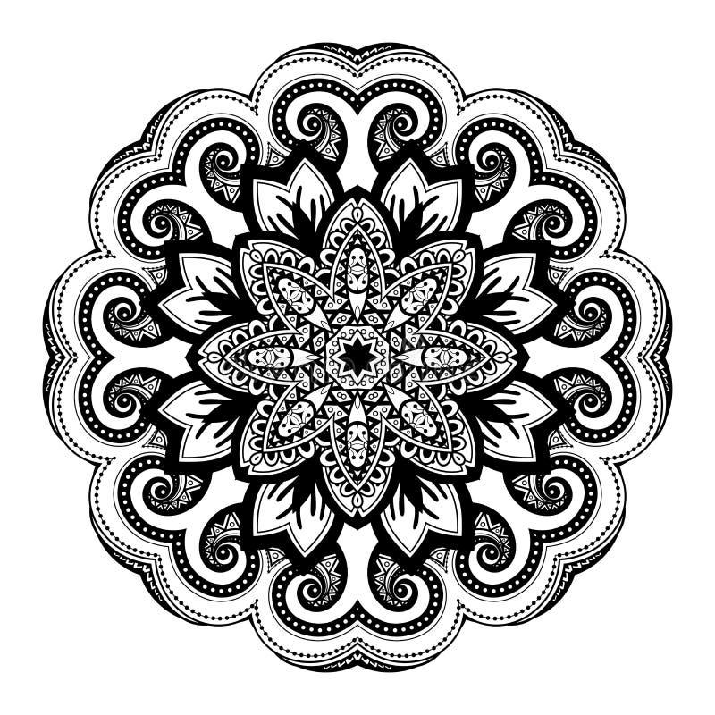 Download Beau Mandala De Noir De Deco De Vecteur Illustration de Vecteur - Illustration du henné, deco: 56481412