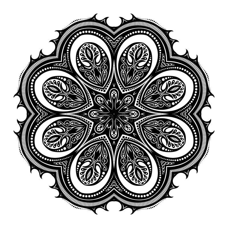 Download Beau Mandala De Noir De Deco De Vecteur Illustration de Vecteur - Illustration du emblème, célébration: 56481669