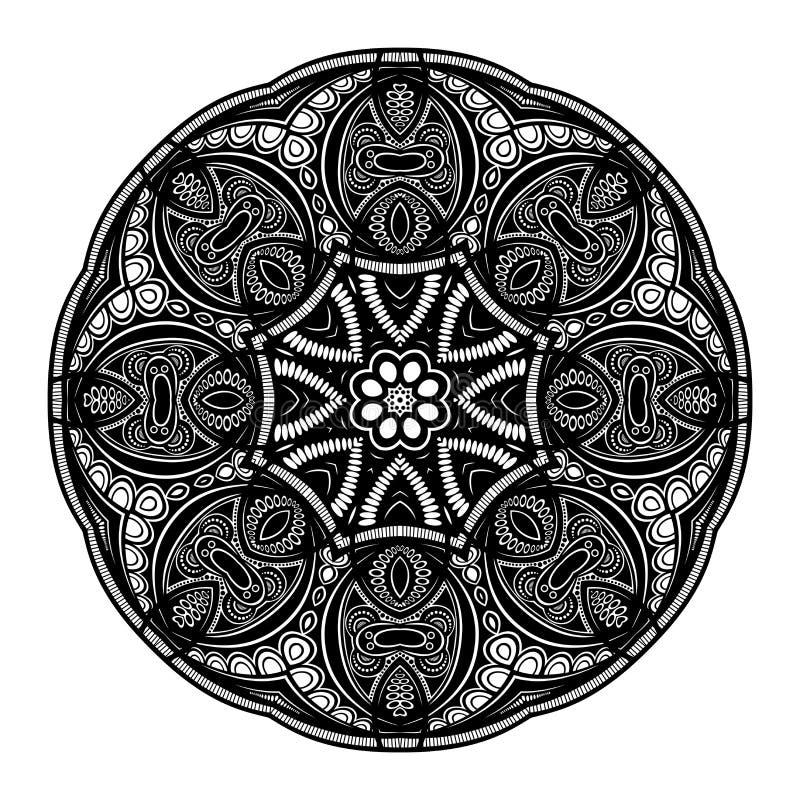 Download Beau Mandala De Noir De Deco De Vecteur Illustration de Vecteur - Illustration du indien, emblème: 56481823