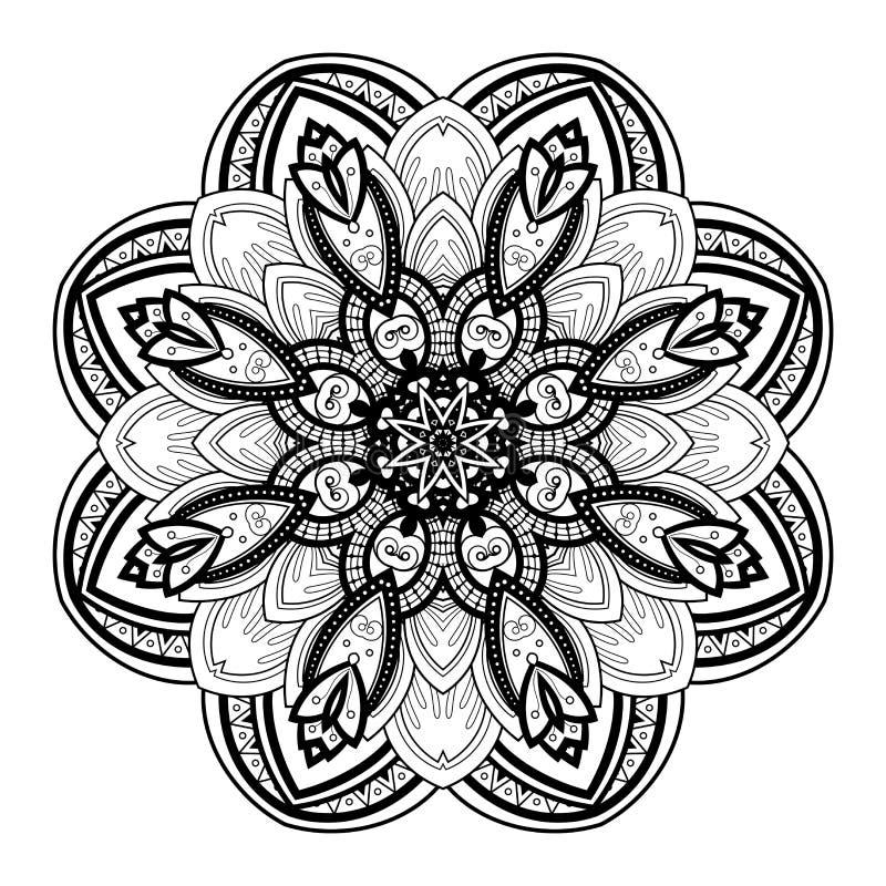 Download Beau Mandala De Noir De Deco De Vecteur Illustration de Vecteur - Illustration du cercle, main: 56482420