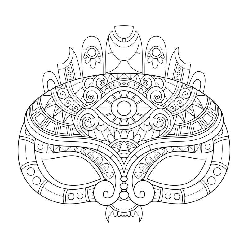 Beau masque de mascarade de vecteur illustration de vecteur