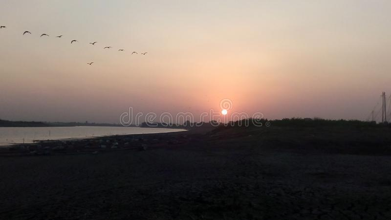 Beau matin de Godavari photo stock