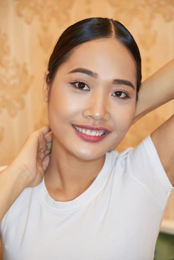 Beau mod?le asiatique image libre de droits
