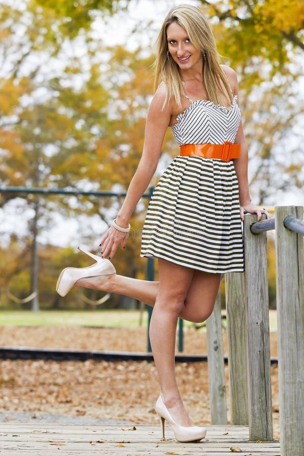 Beau modèle blond photo stock