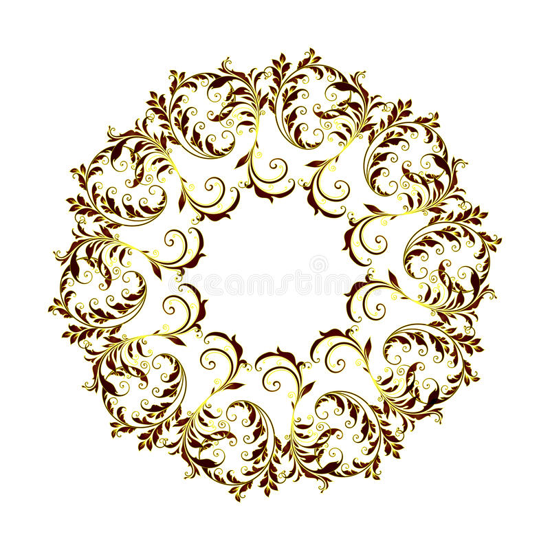 Beau modèle circulaire de floral photos libres de droits
