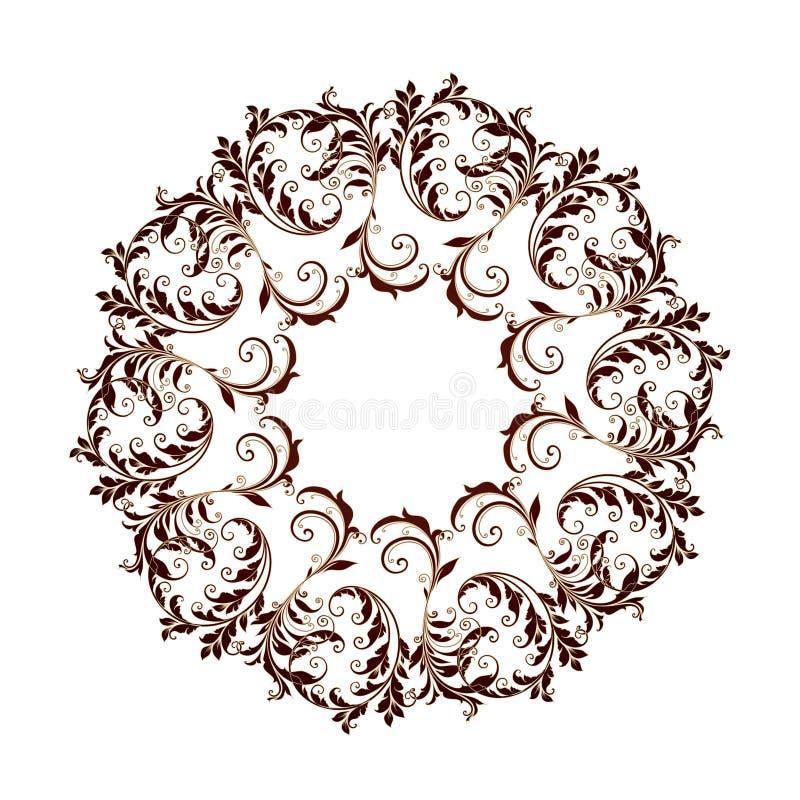Beau modèle circulaire de floral photographie stock libre de droits