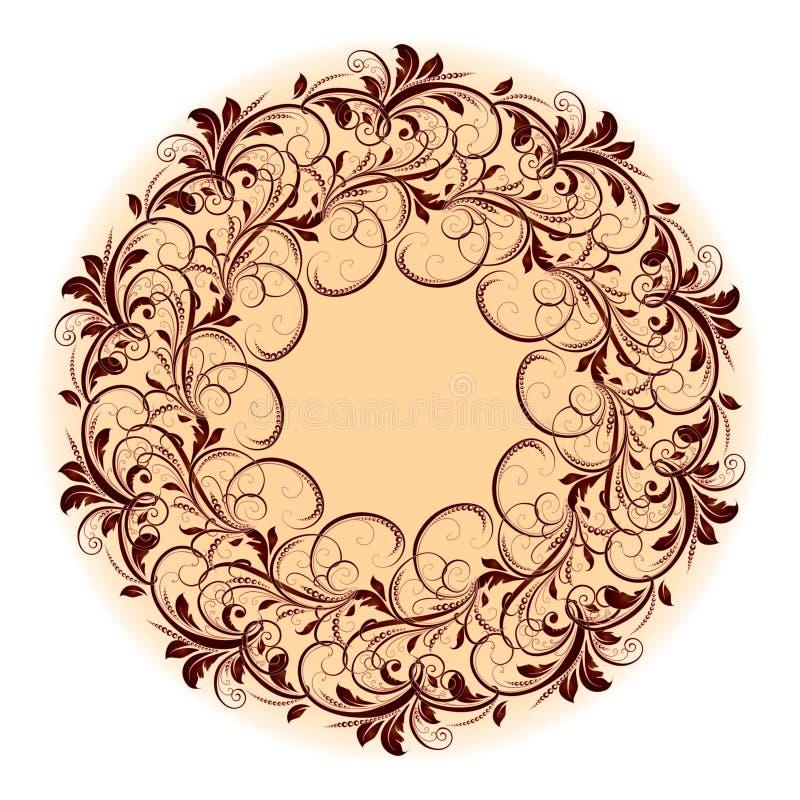 Beau modèle circulaire de floral photographie stock
