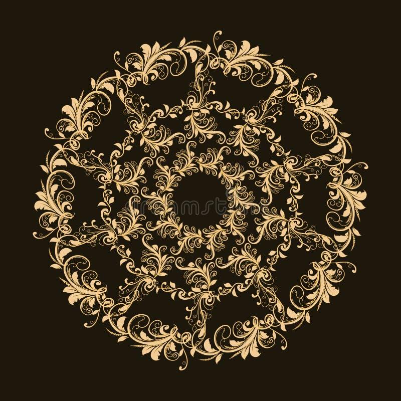 Beau modèle circulaire de floral photo stock