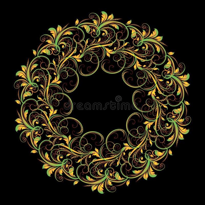 Beau modèle circulaire de floral photo libre de droits
