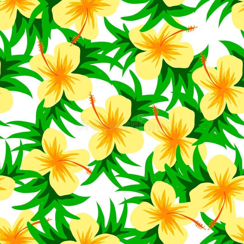 Beau modèle de fleur de vecteur avec la feuille sur le fond blanc photo libre de droits
