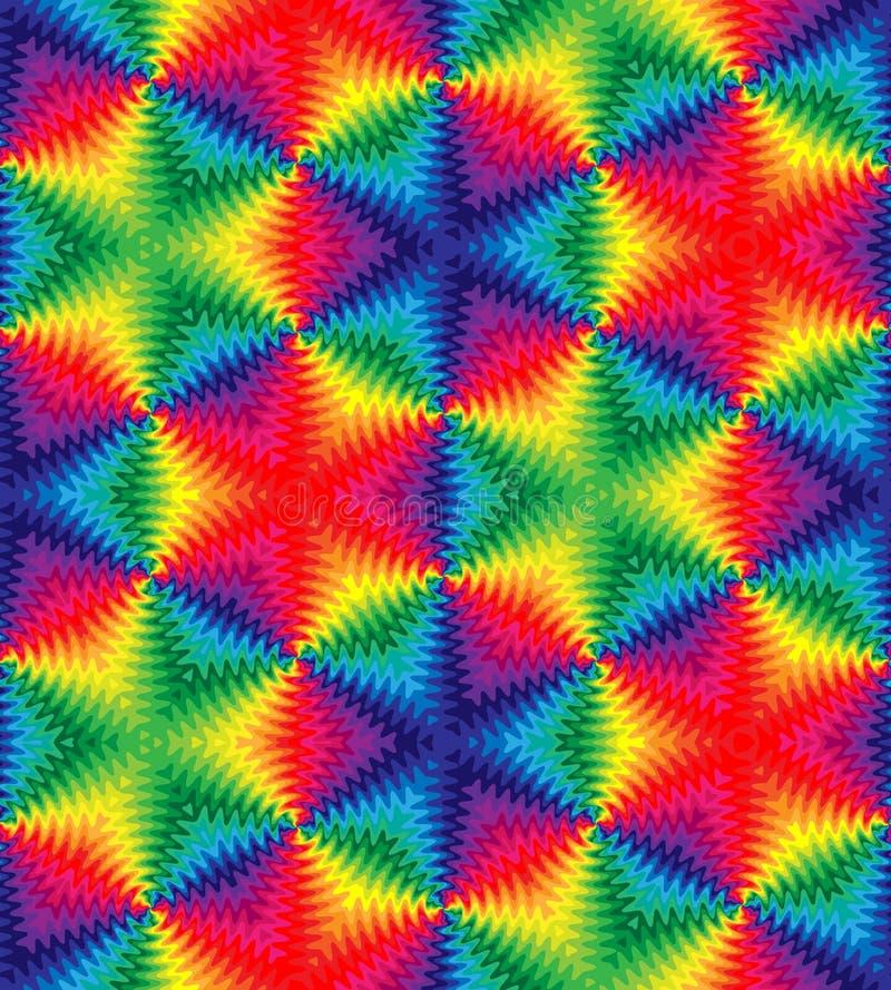 Beau modèle de vagues coloré sans couture Fond abstrait géométrique monochrome Approprié au textile, tissu, emballage et illustration de vecteur