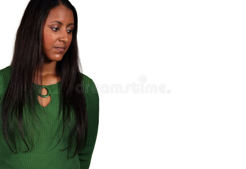 Beau modèle exotique de femme d'isolement photo stock