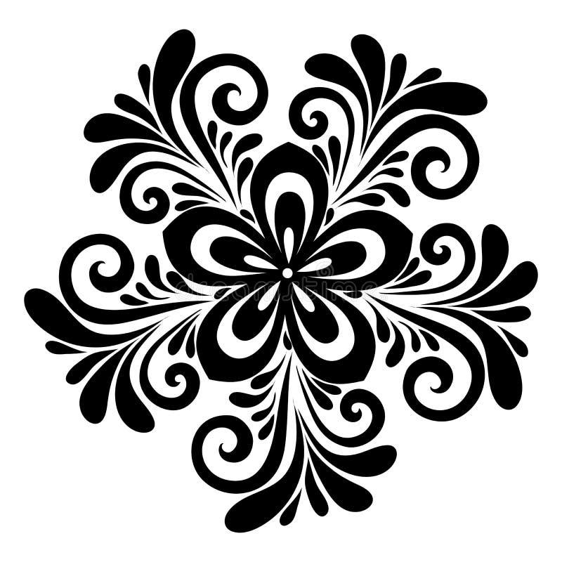 Beau modèle floral, un élément de conception dans le style ancien. illustration libre de droits