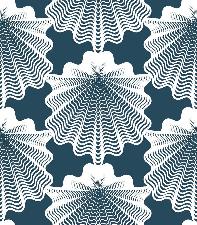 Beau modèle sans couture abstrait avec les chiffres géométriques Vect illustration stock