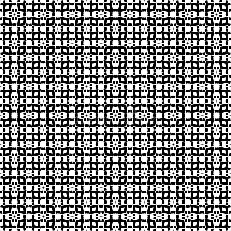 Beau modèle sans couture noir et blanc de vecteur illustration de vecteur