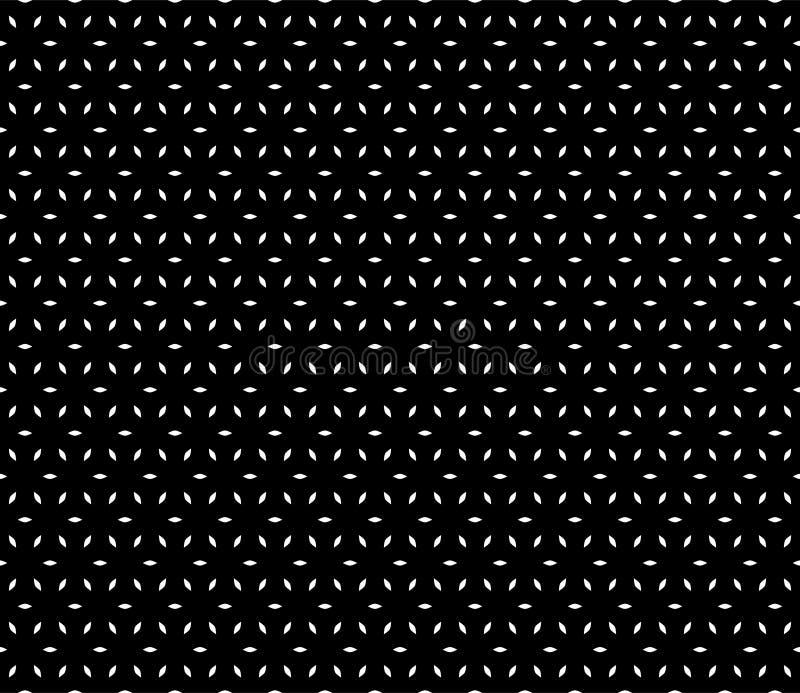 Beau modèle sans couture noir et blanc de vecteur illustration libre de droits
