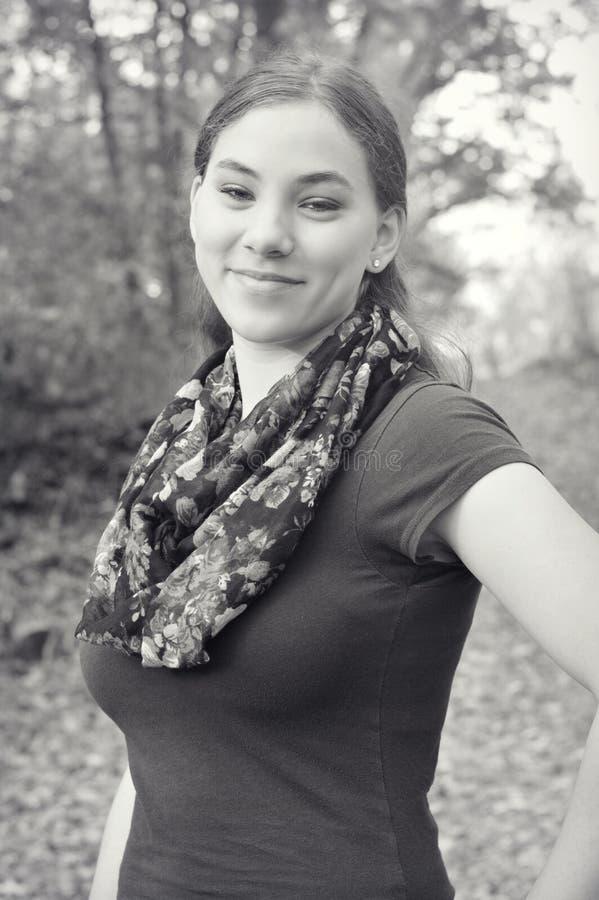 Beau monochrome de femme photos stock