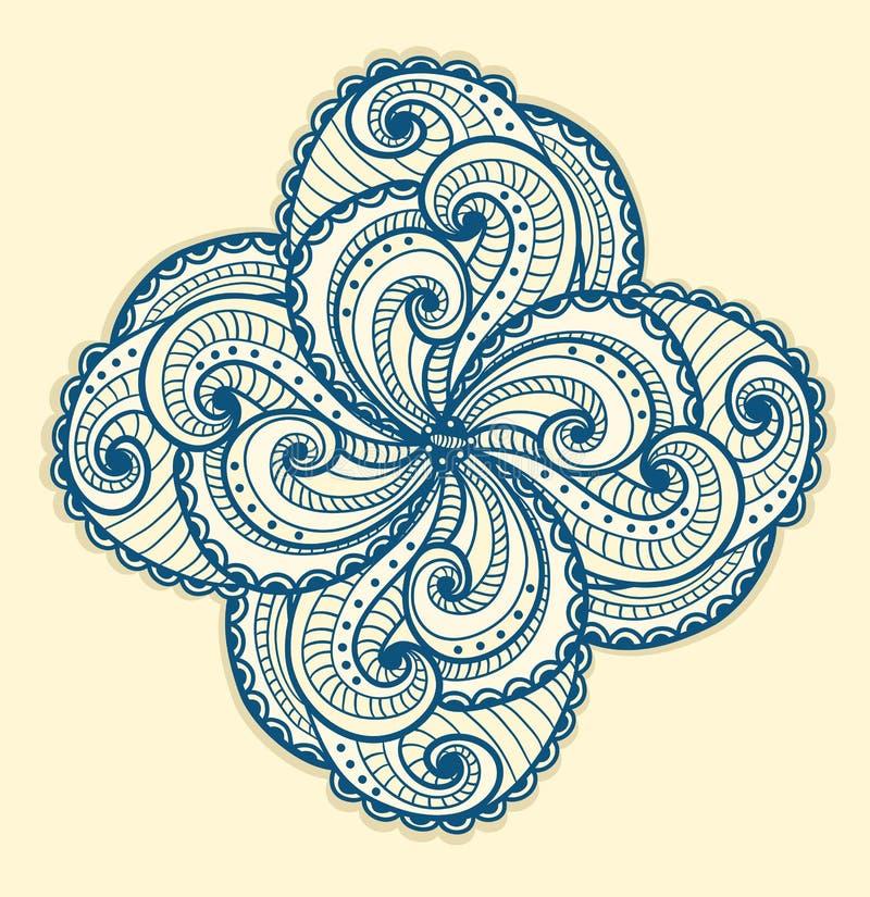 Beau Motif Floral Sur Le Jaune. Image stock