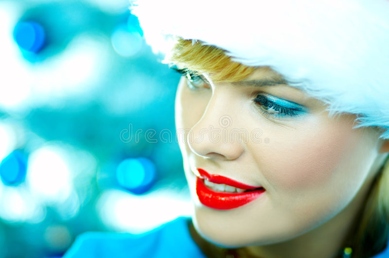 Beau Noël bleu images libres de droits
